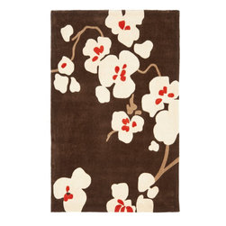Safavieh - Country & Floral Modern Art 4'x6' Rectangle Brown - Ivory Area Rug - The Modern Art area rug Collection offers an affordable assortment of Country & Floral stylings. Modern Art features a blend of natural Brown - Ivory color. Hand Tufted of Polyester the Modern Art Collection is an intriguing compliment to any decor.
