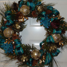 Traditional Holiday Decorations by Kristine Interiors and Floral Design