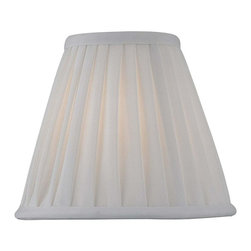Lite Source - Empire Pleat Chandelier Shade (7 in. Dia.) - Choose Size: 7 in. Dia.. 6 in. Shade:. Top: 3 in. Dia.. Bottom: 6 in. Dia.. Height: 5 in.. 7 in. Shade:. Top: 3.75 in. Dia.. Bottom: 7 in. Dia.. Height: 6 in.