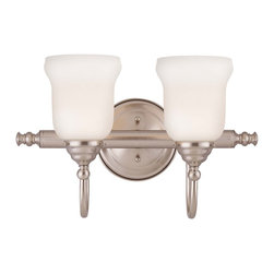 Savoy House - Savoy House Brunswick Bath Bathroom Lighting Fixture in Satin Nickel - Shown in picture: For a variety of Bathroom Spaces in Satin Nickel Finish; *GL700 Glass Sold Separately