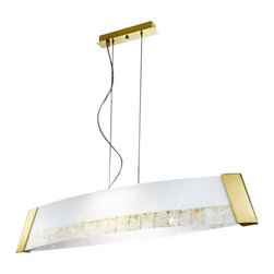 Kolarz - Top quality from Vienna - Kolarz - Top quality from Vienna Saba Barca pendant lamp small - Saba Barca pendant lamp small is part of a collection of High End light fixtures made in Vienna, Austria by Kolarz. This light series is designed by artistique minds using the finest materials, metal and glass, beeing a unique creation and fashioned to reflect individual personality and lifestyle. Saba Barca consists of a framework hanging from the ceiling with its shape representing an ancient boat used in Florence in the 1400s. Its diffuser is made of two pieces of satinated white glass hand-decorated with beautiful square spirals. The fixture comes in two versions of finishes, chrome plated with silver decorations and 24k gold plated with gold decorations. Combining its distinctive design with the highest quality of its materials the suspension light is a luxury path for both commercial and residential interiors. Illumination is provided by R7s 118mm, 150W Halogen bulb (not included).      Product Details: Saba Barca pendant lamp small is part of a collection of High End light fixtures made in Vienna, Austria by Kolarz. This light series is designed by artistique minds using the finest materials, metal and glass, beeing a unique creation and fashioned to reflect individual personality and lifestyle. Saba Barca consists of a framework hanging from the ceiling with its shape representing an ancient boat used in Florence in the 1400s. Its diffuser is made of two pieces of satinated white glass hand-decorated with beautiful square spirals. The fixture comes in  two versions of finishes, chrome plated with silver decorations and 24k gold plated with gold decorations. Combining its distinctive design with the highest quality of its materials the suspension light is a luxury path for both commercial and residential interiors. Illumination is provided by R7s 118mm, 150W Halogen  bulb (not included). Details:                         Manufacturer:            Kolarz          