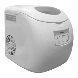 Danby - Danby Countertop Ice Maker - Create up to 25 pounds of ice per day automatically with this Danby countertop ice maker,finished in a sleek white with a see-through top. The unit's small size allows it to fit right into your home,and an alarm lets you know when ice is ready.