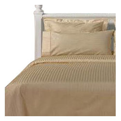 SCALA - 1000Tc Stripe King Size Beige Color Sheet Set - We offer supreme quality Egyptian Cotton bed linens with exclusive Italian Finishing. These soft, smooth and silky high quality and durable bed linens come to you at a very low price as these come directly from the manufacturer. We offer Italian finish on Egyptian cotton, which makes this product truly exclusive, and owner's pride. It's an experience and without it you are truly missing the luxury and comfort!!