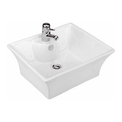 Renovators Supply - Vessel Sinks White Newcastle Vessel Sink | 10815 - Vessel Sinks Above Counter: Made of Grade A vitreous China these sinks easily endure daily wear and tear. Our protective RENO-GLOSS finish resists common household stains and makes it an EASY CLEAN wipe-off surface. Ergonomic and elegant easy reach design reduces daily strain placed on your body. SPACE-SAVING design maximizes limited bathroom space. Easy, above counter installation let's you select from many faucet styles and countertop designs, sold separately. Measures 17 1/2 inch W x 19 1/2 inch projection
