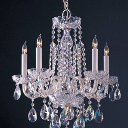 Crystorama - Crystorama Traditional Crystal 1 Tier Chandelier in Chrome - Shown in picture: Hand Polished Crystal Chandelier; Traditional crystal chandeliers are classic - timeless - and elegant. Crystorama�s opulent glass arm chandeliers are nothing short of spectacular. This collection is offered in a variety of crystal grades to fit any budget.