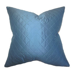 """The Pillow Collection - Lexis Solid Pillow Blue 20"""" x 20"""" - Give your living space a whole new feel with this luscious accent pillow. This 100% silk throw pillow is the easiest way to reinvent your living room, bedroom or lounge area. Featuring a vibrant blue hue, this decor pillow is made of durable and long lasting materials. Combine with other patterns like geometric, ikat or toile for a vibrant look. Hidden zipper closure for easy cover removal.  Knife edge finish on all four sides.  Reversible pillow with the same fabric on the back side.  Spot cleaning suggested."""