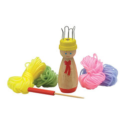 The Original Toy Company - The Original Toy Company Kids Children Play First Knitter - This great classic French (FIRST) Knitter will provide hours of instructive play - the kit includes, a wooden knitter & needle, 4 different colors of yarn, retailed packaged. Age - 6 years plus. Weight: 2 lbs.
