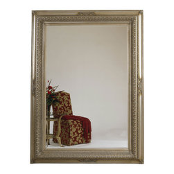 Bassett Mirror - Silver Leaf Beveled Rectangle Floor Mirror - Silver Leaf with Bevel - Rectangle Leaner. Measures: 66 in. W x 90 in. H. Weight: 153 lbs