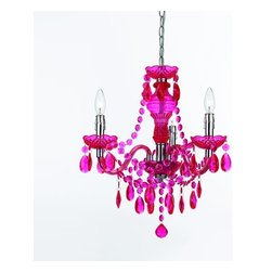 AF Lighting - AF Lighting 8502 Hot Pink Three Light Mini Chandelier from the Angelo Home Colle - AF Lighting 8502 Three Light Mini Chandelier from the Angelo Home CollectionThis fixture is designed by Angelo Surmelis from angelo : Home. He is a world class designer who is known for his unique hand crafted work, and has been on many television shows for HGTV and TLC. AF Lighting and Angelo have partnered to create an entire collection of fixtures that are designed by Angelo. The collection of stylish and affordable fixtures is committed to quality, value and ease. From the hand crafted details to the no fuss assembly, the Angelo Home collection will add style to any room in the home.Features: