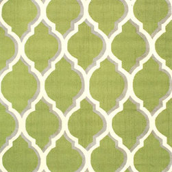 """nuLOOM - nuLOOM,  Anabel, Hand Hooked Area Rug,  Green, 7' 6""""x9' 6"""" - Style: Contemporary"""
