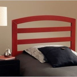 Sophia Headboard - Red - It may look plain but the Sophia headboard – Red is beyond plain. This subtly designed headboard is bound to bring delight into your home. This bed's traditional silhouette is enhanced by horizontal slats and superb construction. Finished in a jubilant dark red. Dimensions: Twin headboard: 40W x 1D x 47H inches Full/Queen headboard: 60W x 1D x 47H inches About Hillsdale FurnitureLocated in Louisville Ky. Hillsdale Furniture is a leader in top-quality affordable bedroom furniture. Since 1994 Hillsdale has combined the talents of nationally recognized designers and globally accredited factories to bring you furniture styling and design from around the globe. Hillsdale combines the best in finishes materials and designs to bring both beauty and value with every piece. The combination of top-quality metal wood stone and leather has given Hillsdale the reputation for leading-edge styling and concepts.