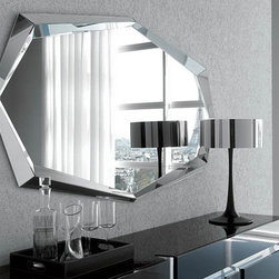 Emerald Wall Mirror By Cattelan Italia - Emerald Wall Mirror with the whole frame in mirrored glass. The Emerald Modern Wall Mirror has the power to brighten the very look and feel of the room. Get ready to enliven your living area with this collection piece that adds a dash of sparkle to the wall it adorns. With a look of fine mirrored frame our Emerald Modern Wall Mirror reflects the relaxed luxury of your home. Ideal in the entryway or dining room our Emerald Modern Wall Mirror enhances any space with its intensity.