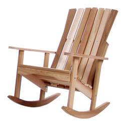 All Things Cedar - Cedar Porch Rocking Chair - Possibly the most comfortable chair you have ever sat in. Smooth and comfortable. Makes a great gift. Item is made to order.