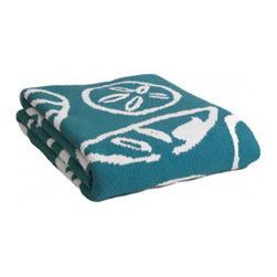Higgins Beach Throw Blanket - Inspired by Higgins Beach in Maine, this is a chic nautical motif designed to bring your seaside memories home. These soft throws are perfect year-round ... whether for cool summer nights or in the winter by the fire! Ideal size for the foot of a bed or on your favorite chair. Throw features contrast knit on reverse side with colors used on front. 80/20 cotton/acrylic blend; machine washable. Made to order by Christen Maxwell in the USA