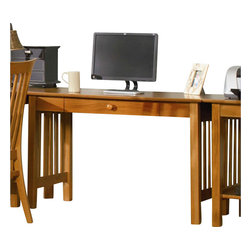 Atlantic Furniture - Atlantic Furniture Mission Writing Desk in Caramel Latte - Atlantic Furniture - Writing Desks - AH12217 - The center piece of any true home office the Mission Writing Table is the perfect mix of form and function.