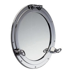 Shiplights - Solid Brass Porthole Mirror for Interior or Exterior Use by Shiplights - Our Porthole Mirror is made of Solid Brass and can be used indoors or outdoors in a wide variety of applications.
