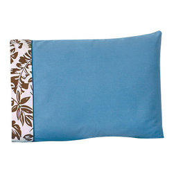 Sweet Jojo Designs - Surf Blue & Brown Children's Sheet Set Queen (4 Pc.) - The Surf Blue & Brown Children's sheet set will help complete the look of your Sweet Jojo Designs room. This blue with hawaiian leaf trim and detail piping sheet set is available in a Twin and Queen Size and is machine washable for easy care.