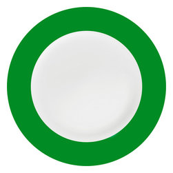 Konitz - Colors Salad Plates, Green, Set of 2 - You make a point to serve salads to your crew. Now go the extra mile and frame that freshness on these simply elegant two-tone salad plates (sold in pairs).