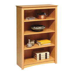 Prepac - Prepac Sonoma Maple 48 Inch 4-Shelf Bookcase - Add an accent that's both functional and upscale to your home with the 4-shelf bookcase. With four shelves' worth of storage for books, plates, decorative accessories and more, this stylish piece is ideal for your den, office or living room. Get even more storage by arranging it with others for a library wall effect. It's one storage piece that's as fashionable as it is versatile.