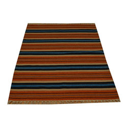 100% Wool Colorful Durie Kilim 3'x5' Flat Weave Hand Woven Oriental Rug SH15812 - Soumaks & Kilims are prominent Flat Woven Rugs.  Flat Woven Rugs are made by weaving wool onto a foundation of cotton warps on the loom.  The unique trait about these thin rugs is that they're reversible.  Pillows and Blankets can be made from Soumas & Kilims.