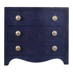 Silver Nest - Blue Snakeskin Chest - Three drawer blue snakeskin chest.
