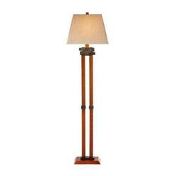 Home Decorators Floor Lamp: Latch 58 in. Cherry Floor Lamp 0997100920