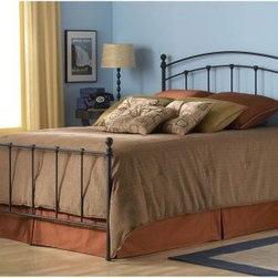 Sanford Bed - Sleep in style with the Sanford Bed from Fashion Bed Group. It features a classic metal bed design with a matte black finish that makes it perfect for contemporary and transitional decors. A powder-coat application brings texture to the surface in a way that both mutes and playfully reflects light. The heavy steel frame is built to last but the soft sheen creates a lightweight look. Fixed castings are intentionally finished in the same black powder-coat so all you'll see is a simple silhouette. The Sanford is available in your choice of sizes and you can choose to order the complete bed or the headboard only.Bed Dimensions:Twin: 79.9L x 39.5W x 48.25H inchesFull: 79.9L x 54.75W x 52.13H inchesQueen: 84.9L x 61.5W x 52.13H inchesKing: 84.9L x 77.5W x 52.13H inchesHeadboard Dimensions:Twin: 39.5W x 48.25H inchesFull: 54.75W x 52.13H inchesQueen: 61.5W x 52.13H inchesKing: 77.5W x 52.13H inchesAbout Fashion Bed GroupFashion Bed Group is a Leggett and Platt Company known for its innovative fashion beds daybeds futons bunk beds bed frames and bedding support. Created in 1991 Fashion Bed Group is a large consolidation of three leading bed manufacturers. Its beds are manufactured of genuine brass plated brass cast zinc cast aluminum steel iron wood wicker and rattan. Fashion Bed Group's products are distributed throughout North America from warehouses located in Chicago Los Angeles Houston Toronto and Ennis Texas.