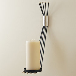 """Candleholders - Crane wall sconce, holds a 5"""" pillar candle"""