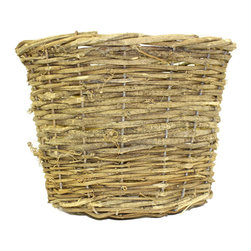 """McCann Brothers Large Vine Basket Planter - McCann Brothers Large Vine Basket Planter. Woven basket planter that fits an 8"""" plastic pot. Pefect for dressing up your favorite plants and flowers creating gift baskets for storage and more. Top diameter: 9.5"""" Bottom diameter: 7"""" Height: 7.5"""""""