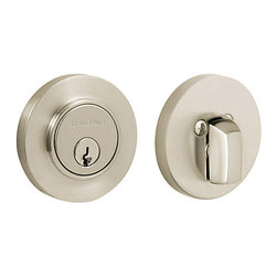Baldwin Hardware - Baldwin Estate 8244 Contemporary Deabolt, Single Cylinder, Satin Nickel - 8244 Product Details
