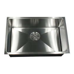 Nantucket Sinks - Nantucket Sink sr2318 - Pro Series Rectangle Single Bowl Undermount small radius - This undermount Pro Series rectangle sink provides rounded corners for additional space and a fresh modern industrial look. The bottom of the sink has channel grooves to divert water for proper drainage.
