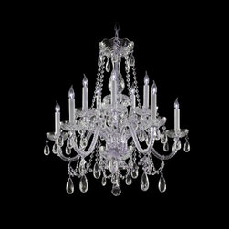 Crystal Mini-Chandelier in Polished Chrome Finish -