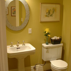 Traditional Powder Room by Inside Design