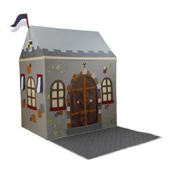 Dexton Toadi Castle Playhouse and Floor Quilt - Have fun stormin' the castle with the Dexton Toadi Castle Playhouse and Floor Quilt. This fun play tent features a mythical castle motif with a metal frame and plastic connectors for easy assembly. Its matching floor quilt extends the play area and offers a comfortable front porch area. Includes full curtains for windows and door.About Dexton LLCLocated in beautiful Southern California Dexton LLC has been manufacturing premium toys for children for the past 10 years. Dexton's mission is to make products that are different from what you normally see in the toy aisle of your favorite store. They are instead dedicated to making toys that help your child cultivate their creativity and explore their imagination. Dexton is here to help you create a fun and healthy home for your children.