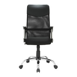 Modway - Modway EEI-711 Sights Office Chair in Black - Take charge of your day with this versatile paradigm of comfort and style. Sights features pneumatic height adjustment, a chrome nylon base, dual wheel carpet casters and a full 360 degree swivel. Also features a butterfly mechanism that allows the chair to intuitively adjust when the sitter leans backwards.