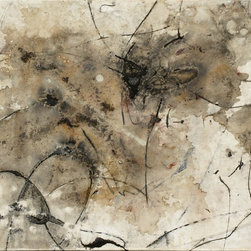 """""""Cuts Leftover"""" Artwork - Painted with Water, Coffee, Acrylic and Oil"""
