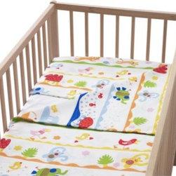 BARNSLIG DANS Crib duvet cover/pillowcase - Crib duvet cover/pillowcase, multicolor