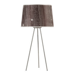 Weegee Medium Table Lamp, Dark Faux Bois