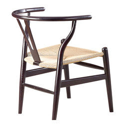 Fine Mod Imports - Woodstring Walnut Dining Chair - Features: