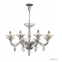 Elk Lighting - Elk Lighting 23002/8 Chandelier - The uniqueness of this collection is derived from its wire-frame design that cleverly emulates the frame of a full bodied fixture. With a classical shape that represents a chandelier with hanging accents, the open design is captivating yet versatile.