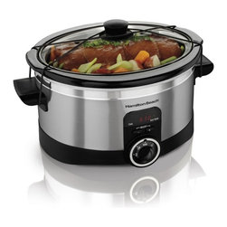 Hamilton Beach - Hamilton Beach 33565 6 qt. Simplicity Slow Cooker Multicolor - 33565 - Shop for Crock Pots and Slow Cookers from Hayneedle.com! About Hamilton BeachOne of the country's leading distributors of small kitchen appliances Hamilton Beach Brands Inc. sells over 35 million appliances every year. The company's most famous brands -- Hamilton Beach Eclectrics Proctor Silex and TrueAir -- are found in households across America Canada and Mexico. Hamilton Beach takes immense pride in their product quality wide variety of options superior customer service and brand name strength and remains committed to serving customers through Good Thinking applied to the style and function in all of their small electric appliances.
