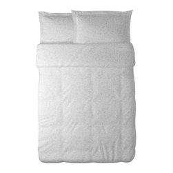 IKEA of Sweden - ALVINE MEDALJONG Duvet cover and pillowsham(s) - Duvet cover and pillowsham(s), white, white