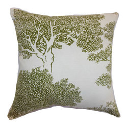 The Pillow Collection - Juara Tree Pillow Fern - - Comes standard at 18 x 18  - Reversible pillow with same fabric on both sides  - Includes a hidden zipper for easy cover removal and cleaning  - Comes standard with a down pillow insert  - All four sides have a clean knife-edge finish  - Pillow insert is 19 x 19 to ensure a tight and generous fit  - Cover and insert made in the USA  - Spot cleaning recommended  - Fill Material: Down  - Pillow cover made of Cotton The Pillow Collection - P18-D-20958-FERN-C55L45