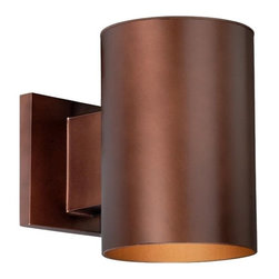 Vaxcel Lighting - Vaxcel Lighting Chiasso Transitional Outdoor Wall Sconce X-ZB050DWO-OC - Simple but perfect for any outdoor space, this Vaxcel Lighting outdoor wall sconce features a clean design that will provide plenty of much needed light to an outdoor space. From the Chiasso Collection, it comes in a rich Bronze finish with clear glass that pulls the look together.