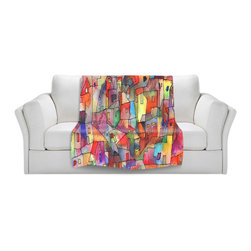 DiaNoche Designs - Throw Blanket Fleece - Rainbowville - Original artwork printed to an ultra soft fleece blanket for a unique look and feel of your living room couch or bedroom space. Dianoche Designs uses images from artists all over the world to create Illuminated art, canvas art, sheets, pillows, duvets, blankets and many other items that you can print to. Every purchase supports an artist!