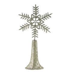 Beaded Snowflake Tree Topper - Beaded Snowflake Tree Topper