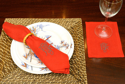 asian table linens by Leontine Linens