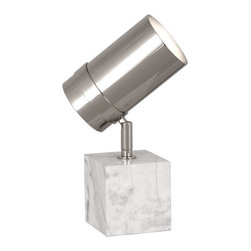 Jonathan Adler Bristol Polished Nickel or Brass Marble Table Lamp , Polished Nic - Jonathan Adler Bristol Polished Nickel or brass Marble Table Lamp