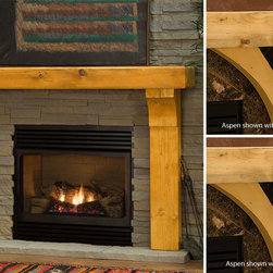 Gallatin Timber Wood Fireplace Mantel - Constructed with solid greenwood and shipped fully assembled, the Gallatin Timber Mantel creates a stunning focal point for any room of the home. -Mantels Direct