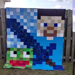 Unofficial Made-to-Order Minecraft-Inspired Quilt by Alice Cordell Quilts - Etsy has no shortage of adorable Minecraft-themed quilts and throws, but I find this seller's stuff particularly captivating. Plus, she makes them to order, so you can request a specific style or size.